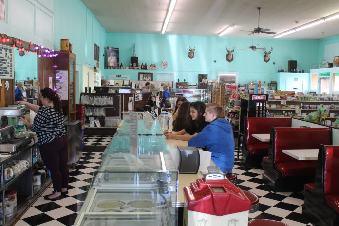 The Hanceville Drug Company, the oldest pharmacy in Cullman County, is home to a 1950s-style soda fountain. (Christy Perry for The Cullman Tribune)