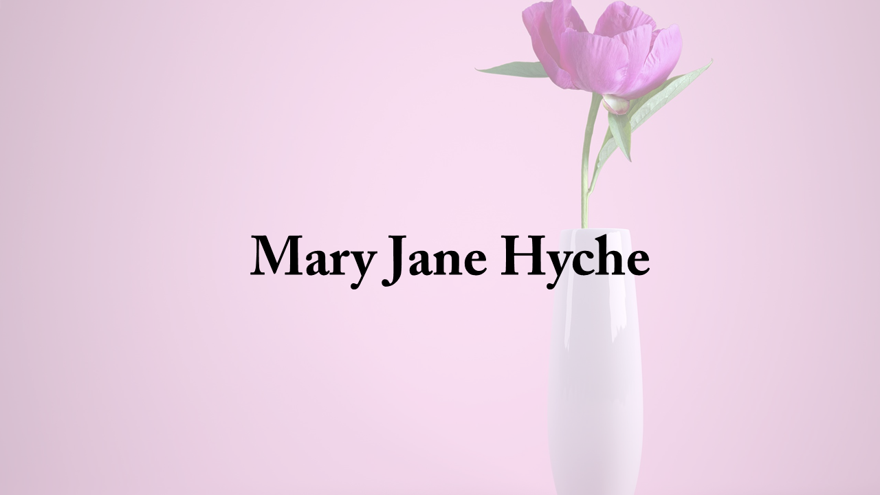 Obituary Mary Jane Hyche The Cullman Tribune