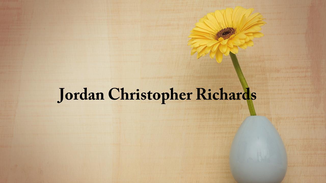 Obituary Jordan Christopher Richards The Cullman Tribune