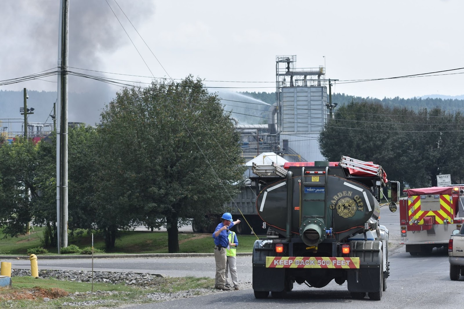 Building in flames at Tyson/River Valley Ingredients plant near Hanceville